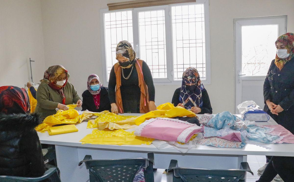 Mardin de açılan kurslarda 1100 kadın meslek sahibi oldu #5
